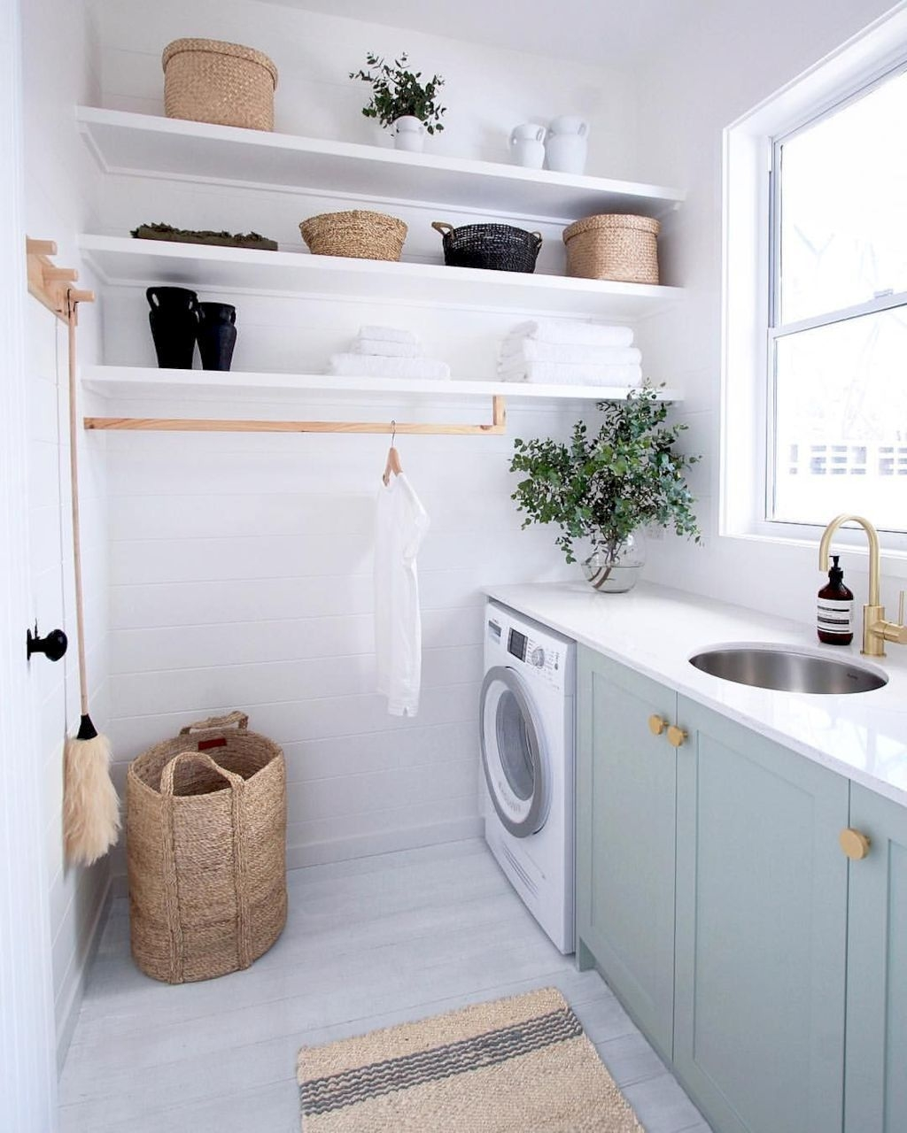 Cute Laundry Room Storage Shelves Ideas To Consider29