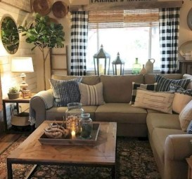Gorgeous Country Farmhouse Decor Ideas For Living Room02