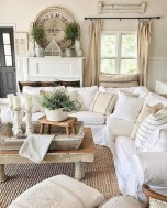 Gorgeous Country Farmhouse Decor Ideas For Living Room21