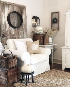 Gorgeous Country Farmhouse Decor Ideas For Living Room29