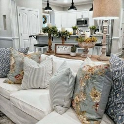 Gorgeous Country Farmhouse Decor Ideas For Living Room31