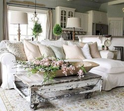 Gorgeous Country Farmhouse Decor Ideas For Living Room43