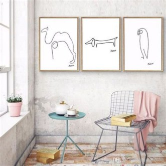 Impressive Minimalist Wall Art Decoration Ideas To Copy Right Now30