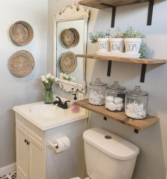 Latest Bathroom Decor Ideas That Match With Your Home Design26