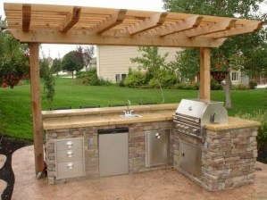 Newest Outdoor Kitchen Decoration Ideas To Make Cozy Kitchen04