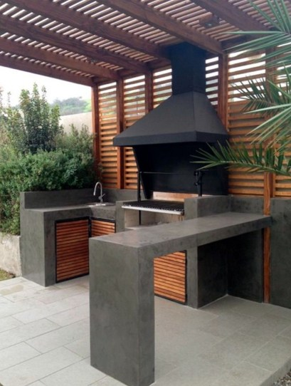 Newest Outdoor Kitchen Decoration Ideas To Make Cozy Kitchen19