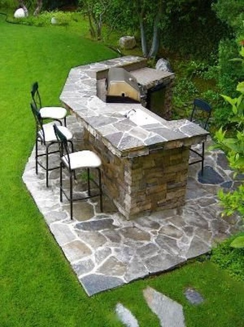 Newest Outdoor Kitchen Decoration Ideas To Make Cozy Kitchen35