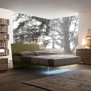 Casual Contemporary Floating Bed Design Ideas For You12