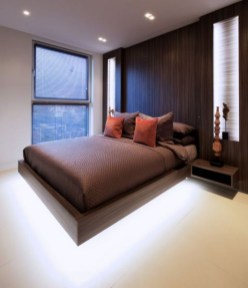 Casual Contemporary Floating Bed Design Ideas For You23