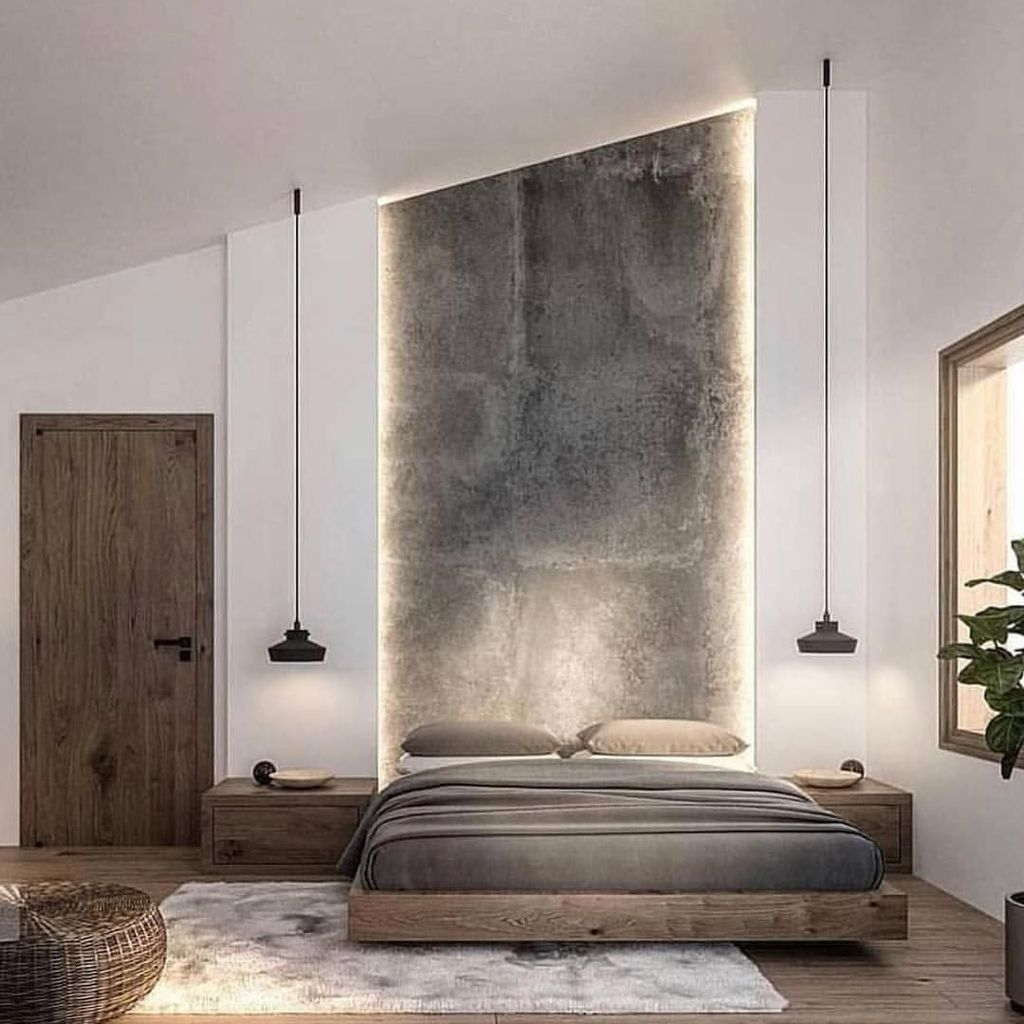 Casual Contemporary Floating Bed Design Ideas For You33