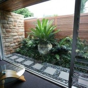 Chic Small Courtyard Garden Design Ideas For You19