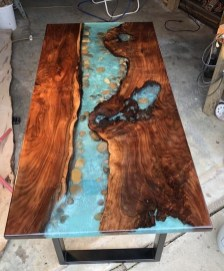 Classy Resin Wood Table Ideas For Your Furniture11