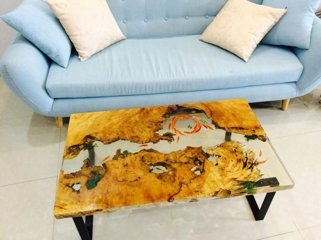 Classy Resin Wood Table Ideas For Your Furniture16