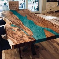 Classy Resin Wood Table Ideas For Your Furniture19