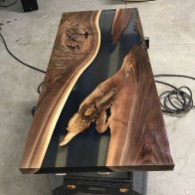 Classy Resin Wood Table Ideas For Your Furniture35