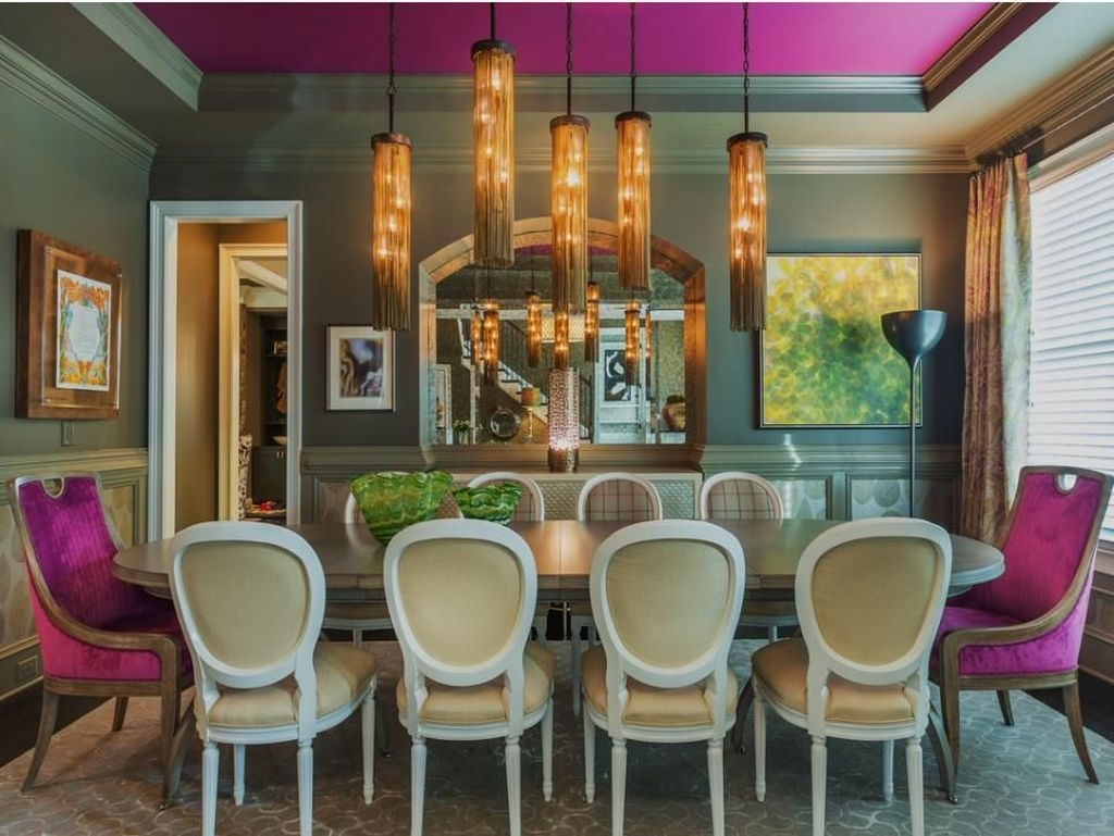 Stunning Dining Room Design Ideas With Multicolored Chairs13