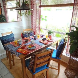 Unordinary Dining Room Design Ideas With Bohemian Style04