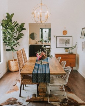 Unordinary Dining Room Design Ideas With Bohemian Style06