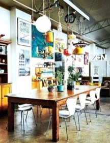 Unordinary Dining Room Design Ideas With Bohemian Style12