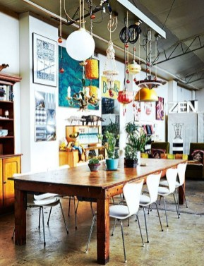 Unordinary Dining Room Design Ideas With Bohemian Style18