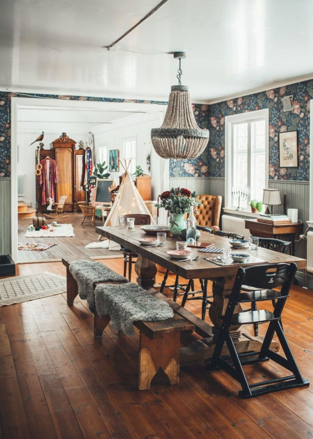 Unordinary Dining Room Design Ideas With Bohemian Style21