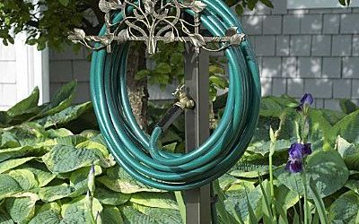 Lovely Decorative Garden Hose Reel Ideas