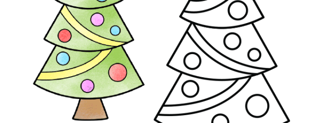 The Best Christmas Tree Drawing Easy Ideas
