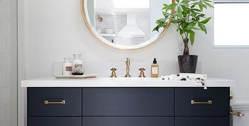 Beautiful Navy Bathroom Vanity Ideas