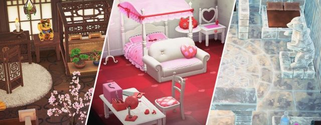 animal crossing new horizons furniture sets collage
