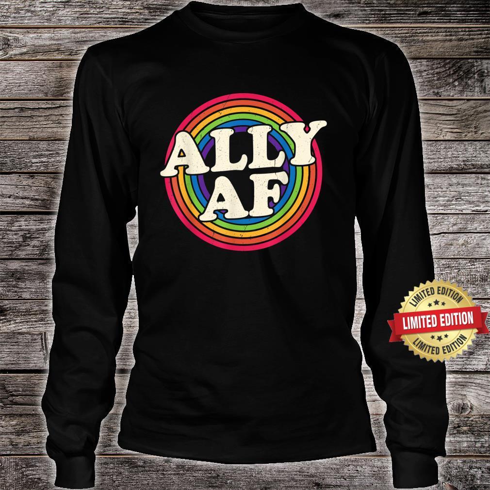Ally AF Gay Pride Month Shirt LGBT Rainbow Shirt long sleeved