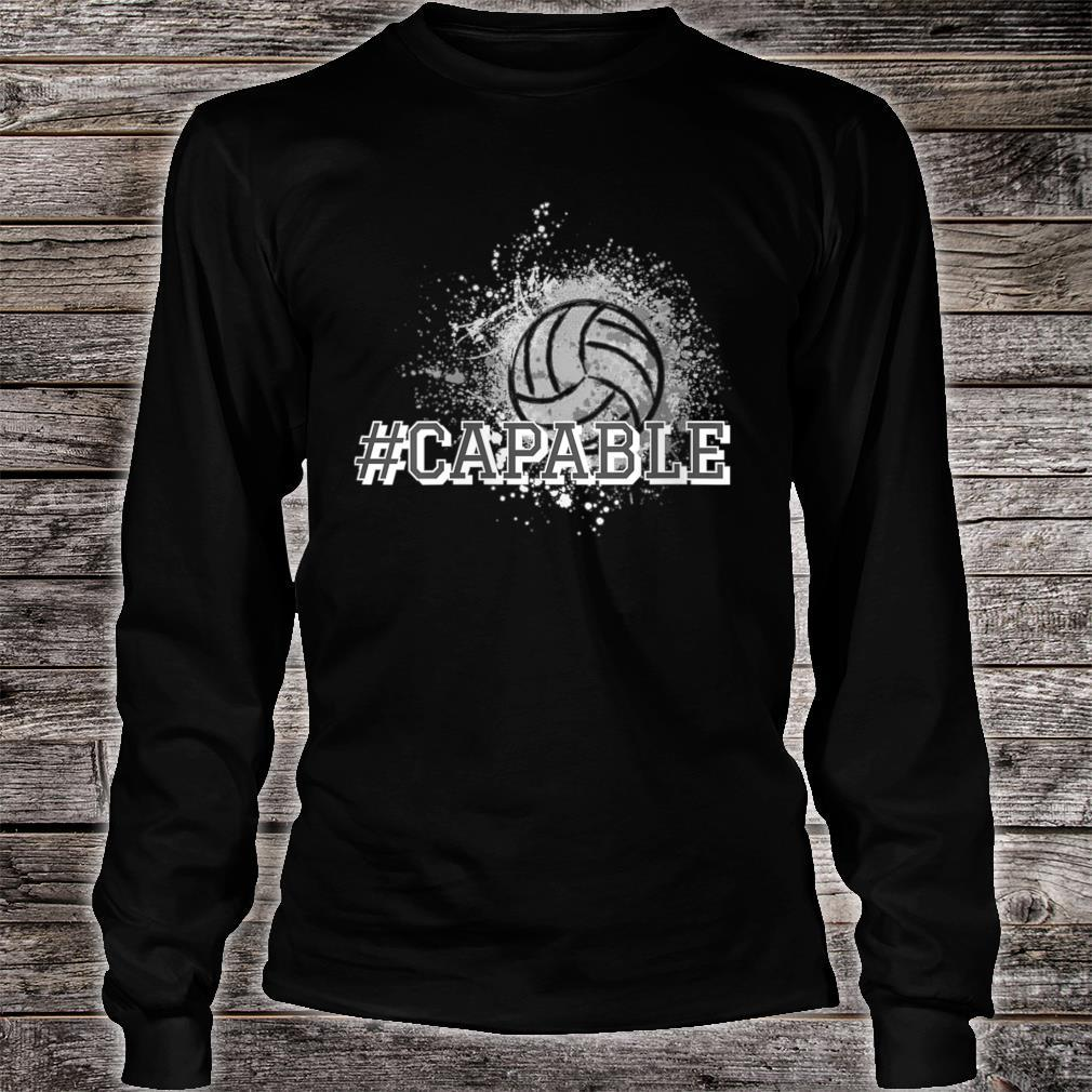 #Capable Volleyball Shirt long sleeved