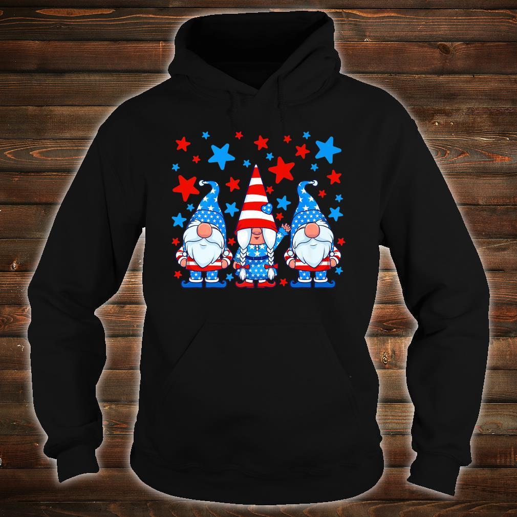 Cute Gnome 4th of July Gnomes Patriotic American Flag Shirt hoodie