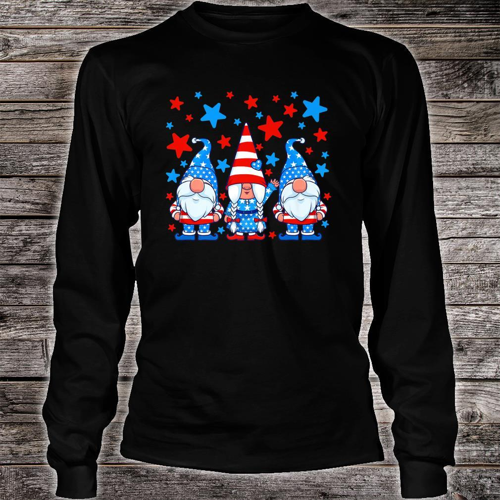 Cute Gnome 4th of July Gnomes Patriotic American Flag Shirt long sleeved