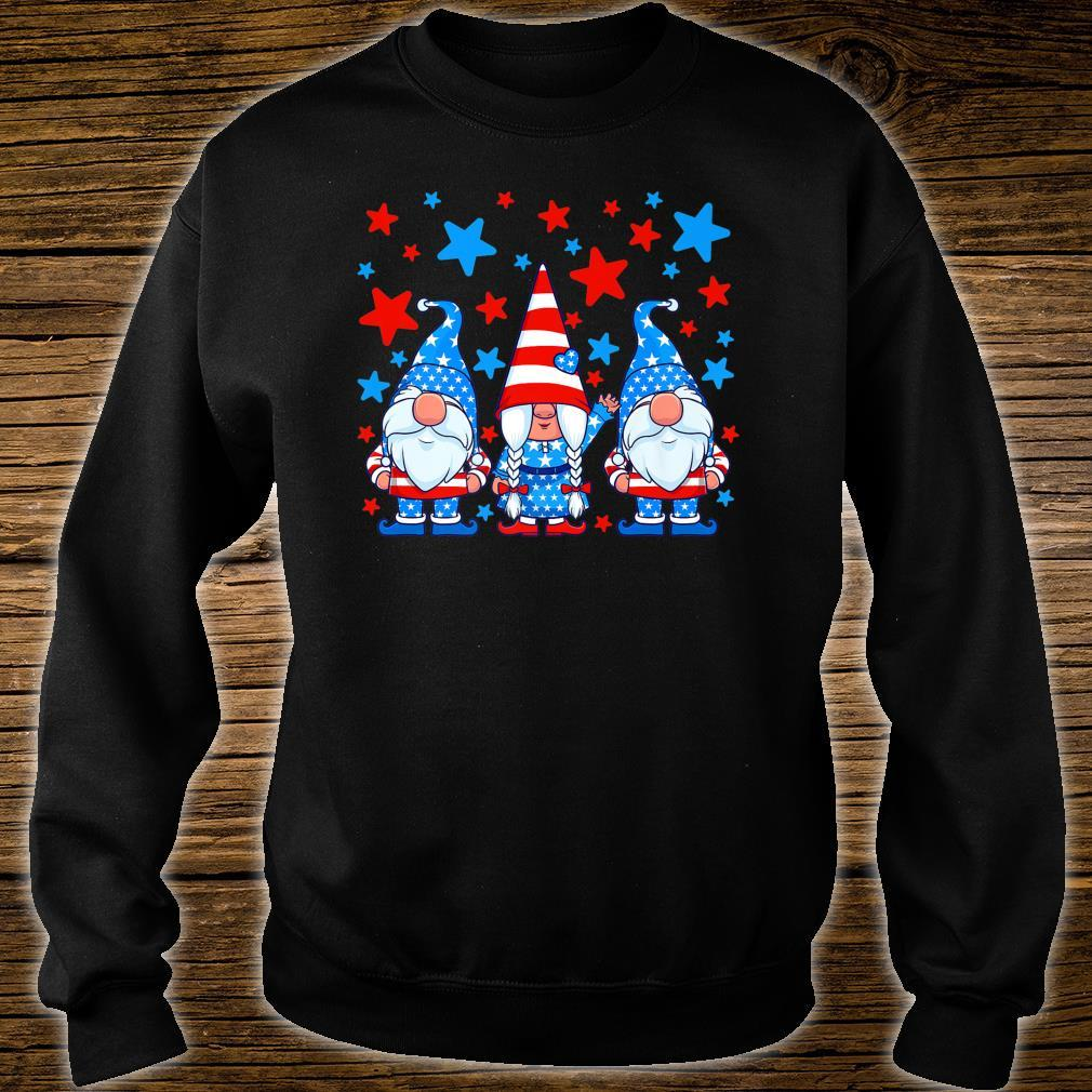 Cute Gnome 4th of July Gnomes Patriotic American Flag Shirt sweater