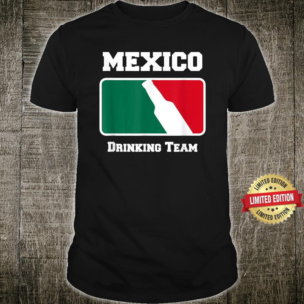 Mexico Drinking Team Beer w Mexican Flag Colors Shirt