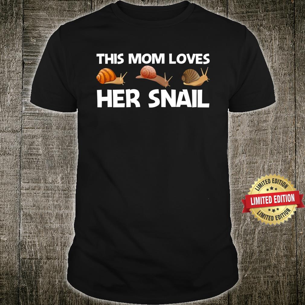 Snail Design For Mom Mother Freshwater Snails Shirt
