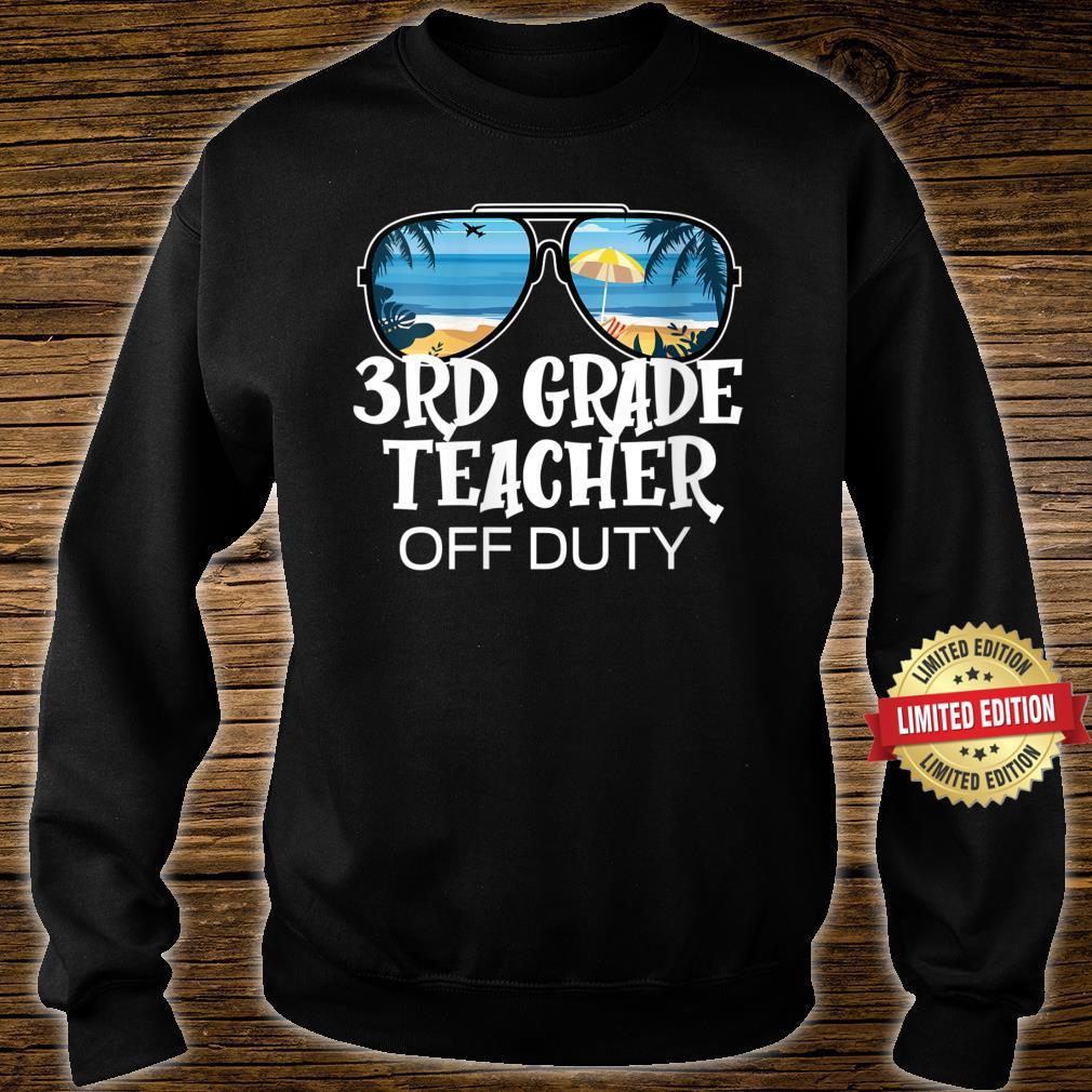 Sunglasses Palm Tree Beach 3rd Grade Teacher Off Duty Shirt sweater