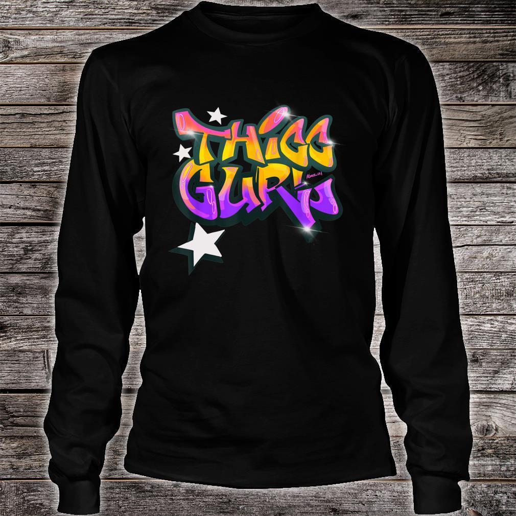 """THICC Gurl GraffitiStyle Urban Streetwear Shirt long sleeved"