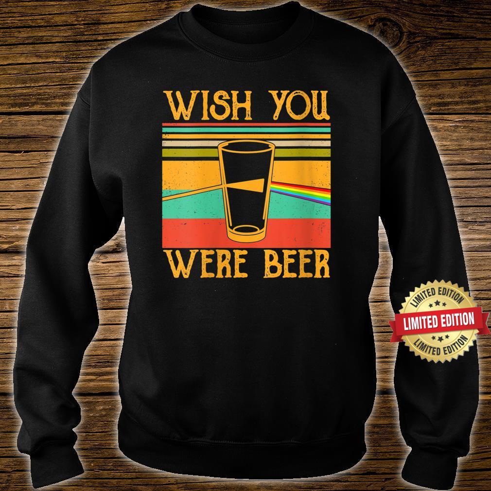 Wish You Were Beer Pink Rainbow Vintage, Beer Drinker Shirt sweater