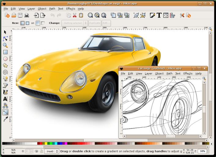 Inkscape0.45