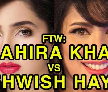 Americans Decide Who Is Better In An Epic Battle Between Mahira Khan Vs. Mehwish Hayat