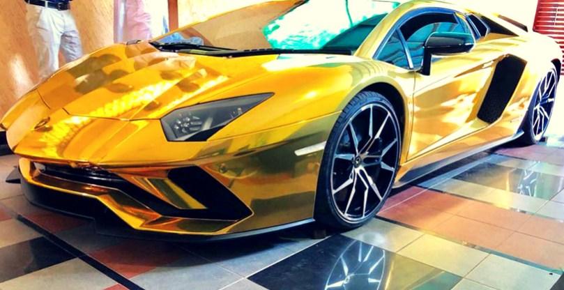 Lamborghini Aventador Gold Meine Bildergalerie
