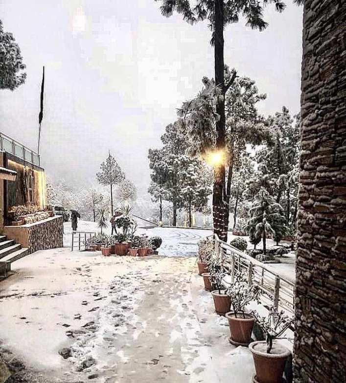 Weather Forecast Islamabad: Islamabad Margalla Hills Receives Snowfall Once Again