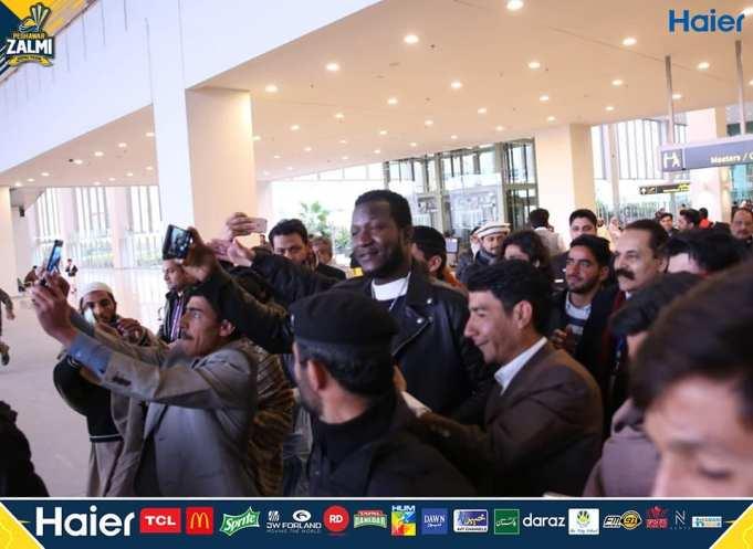 Captain of Peshawar Zalmi Darren Sammy has arrived in Pakistan