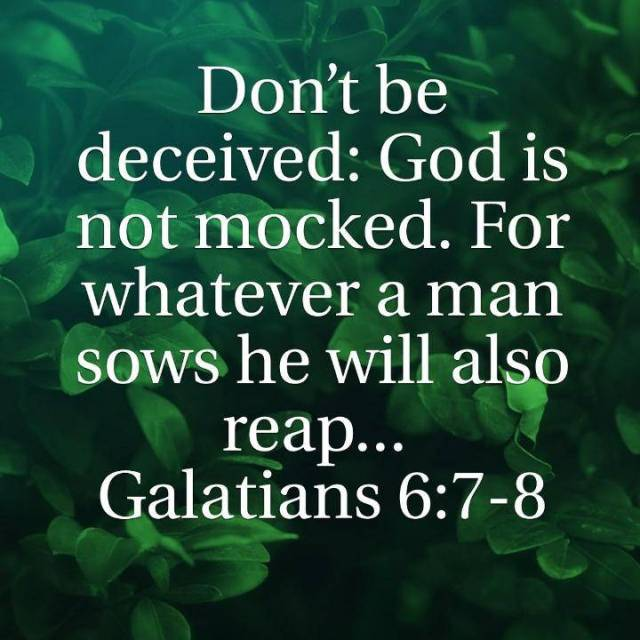 God is never Mocked