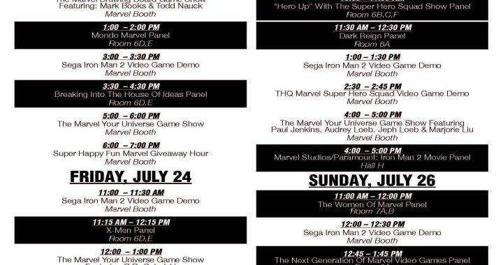 Marvel Booth Events