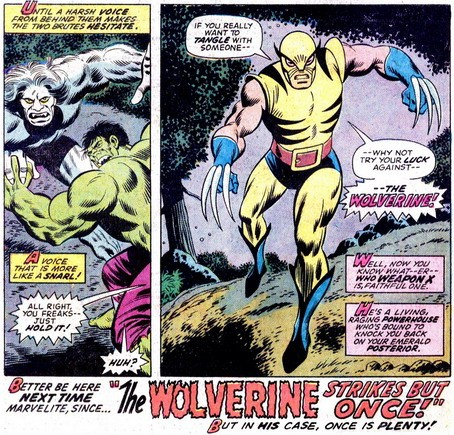 First Wolverine Appearance