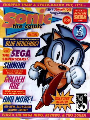 sonic the comic 1 first shinobi