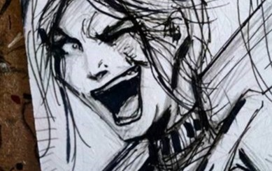 WIN Harley Quinn Sketch card