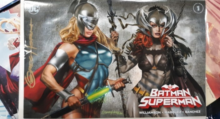WIN Batman/Superman #1 SIGNED by Greg Horn